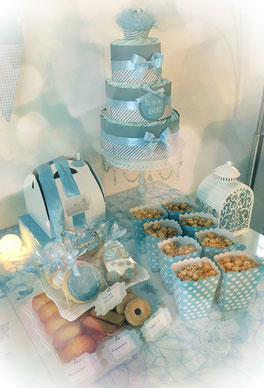 candy bar table decoration fete babyshower garcon bleu