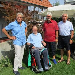 Bild v. l. Hans Peter, Wolfgang Weber, Gerhard Boschert und Gerhard Bär (27.08.2017).