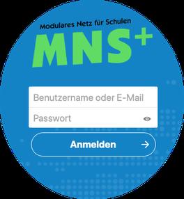 Die Anmeldung erfolgt ganz einfach wie in der Schule mit eurem Benutzernamen und Passwort.
