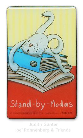 Hase müde! STAND-BY-MODUS - Bildschirmpause! - Text & Illustration Judith Ganter bei Rannenberg & Friends - Magnete, Kühlschrankmagnete