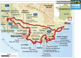 Reiseroute »Tief im Osten«, 730 km.