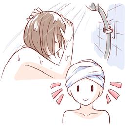 髪・顔・体を全身シャンプーでやさしくキレイに洗う脱毛期の使い方