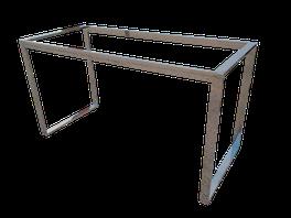 Estructura para mesa a medida en acero inoxidable