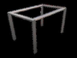 Estructura mesa de centro acero inoxidable
