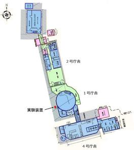 図2 実験装置の設置場所(NPO法人富士山測候所を活用する会 利用手引きの図を修正・加筆)