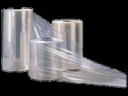 Rollos de polietileno termoencogible.