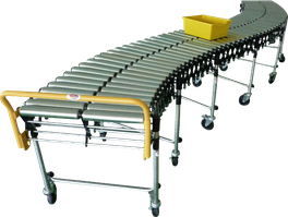 Transportador de rodillos libres flexible