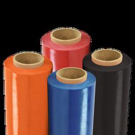 Pelicula estirable para embalaje en colores