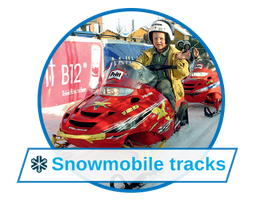 Fun events with snowmobile tracks
