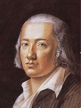 Bild von Hölderlin, Pastell von F.K. Hiemer, 1792