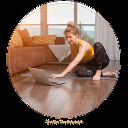 Online-Yoga für Frauen