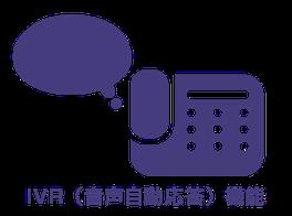着信時にあらかじめ登録しておいた音声を再生し、ご注文などの無人化をお手伝いできます。