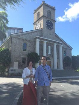 ハワイ オアフ島 ワイキキ カワイアハオ教会 オプショナルツアー 専用車での貸切観光 チャーター 日本語タクシー