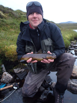 The first trout over 2lbs for the guide. Allan wasn't far behind...