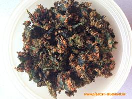 Rohkost, Vitalkost, Gemüsechips, Grünkohl-Chips, Roh, gesund