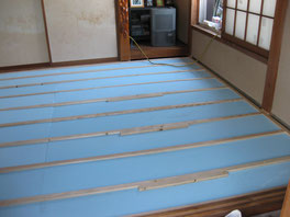 パイン工房多摩地区立川市 フローリング床貼り替え工事