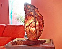 madera de mar, lámpara de mesa, lámpara madera de mar, decoración con madera, decoración con palos, diosa frigg, vymcreaciones, artesanía gijón