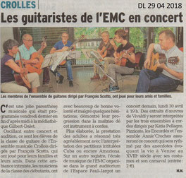 ensemble musical crollois, concert, guitare, mediatheque, crolles