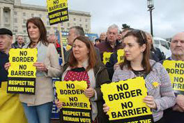 Irish open border protests mount
