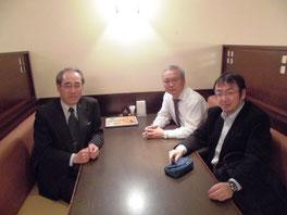 ※写真左から滝口さん、高部さん、田中。滝口さんは産総研やワク・コンサルティング株式会社で私の同僚でもあり、高部さんは私が主宰するドラッカー学会公式研究会のリーダー的な存在としてご活躍いただいています。