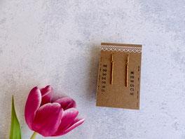 """Ein tolles individuelles Geschenk mit Bedeutung: Ohrhänger """"Hakuna Matata"""" aus vergoldetem Echtsilber - mit Liebe handgemacht vom Mainzer Schmuck-Label Majuki."""
