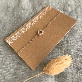 Zartes Armband mit Messing - mit Liebe handgemacht vom kleine Schmuck-Label Majuki.   Ein tolles Geschenk!
