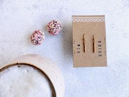 """Ein tolles individuelles Geschenk mit Bedeutung: Ohrhänger """"Wir beide"""" aus vergoldetem Echtsilber - mit Liebe handgemacht vom Mainzer Schmuck-Label Majuki."""
