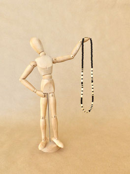 Individuelle Kette mit deinem Wunschtext aus Morsebuchstaben - mit Liebe handgemacht vom kleine Schmuck-Label Majuki.   Ein tolles Männergeschenk!