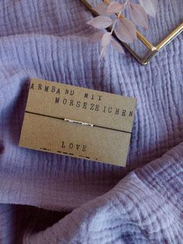 Armband mit Morsebuchstaben und deiner persönlichen Botschaft - mit Liebe handgemacht vom kleine Schmuck-Label Majuki. Ein tolles individuelles Geschenk!