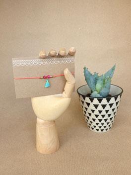 Zartes Armband mit geometrischem Element aus Messing - mit Liebe handgemacht vom Schmuck-Label Majuki.   Ein tolles Geschenk!