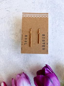 """Ein tolles individuelles Geschenk mit Bedeutung: Ohrhänger """"Soul Sister"""" aus vergoldetem Echtsilber - mit Liebe handgemacht vom Mainzer Schmuck-Label Majuki."""