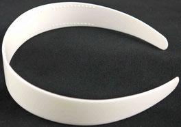 Haarreifen zum beziehen, weiß Plastik, ca. 3cm Breite schmal zulaufend