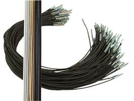 Steckgummi zum befestigen von Fascinatorn und kleinen Gestecken, Blond, braun, schwarz, grau