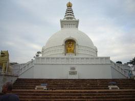 インド多宝山の仏舎利塔