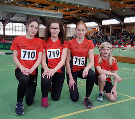 Wettkampftag 2 vlnr: Viviane Franziska Herrmann, Franziska Walle, Marie Homrighausen, Lukas Kasusch