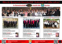 Die vier Chorformationen des Gesangverein Concordia 1850 Nordenstadt e.V.