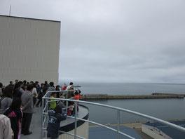 屋上からは、オホーツク海が一望できました。