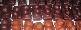 Recette des deux frères noisettes caramélisées enrobées chocolat noir ou lait