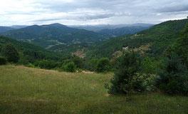 Vue sur les montagnes Ardéchoises