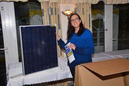 Solaranlage für die Tombola des Camperstammtisch Kevelaer zur Stromerzeugung für Wohnmobil, Camper oder Van.