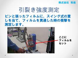 引裂き強度測定の方法
