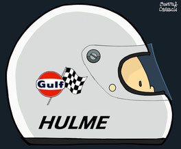 Helmet of Denny Hulme by Muneta & Cerracín