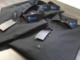 Hemden individuell am Kragen bedruckt