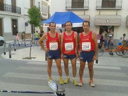 De der. a izq. Antonio Cabrera, Jaime Astals y Juan Cabrera.
