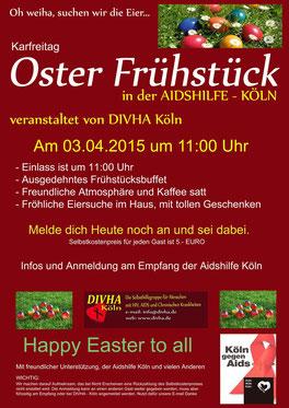 Plakat für das Osterfrühstück 2015