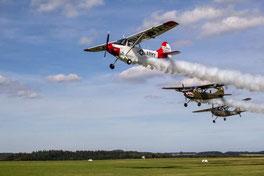 Die Bird Dog-Patrol kommt nach Wershofen (Foto: HG Hamann)