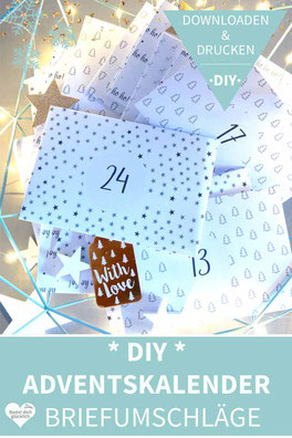 Adventskalender selber machen, Adventskalender schnell, Adventskalender last minute, Adventskalender vorlage, Adventskalender basteln, DIY Adventskalender