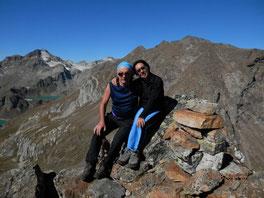 Nicoletta e Luca in vetta alla Punta della Freghera