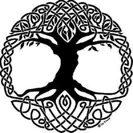 Arbre de vie celtique reliant le Ciel et la Terre