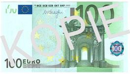 Bezahlt wurde mit einem funkelnigelnagelneuen 100-Euro-Schein